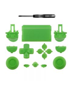 Set Button R2L2 Dpad Repair Kit for PS4 Pro Slim Controller Glossy JDM-040 - Green