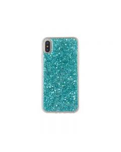 iPhone XS Max Sheer Crystal Twinkling Glass Crystal Fashionable Phone Case - Green