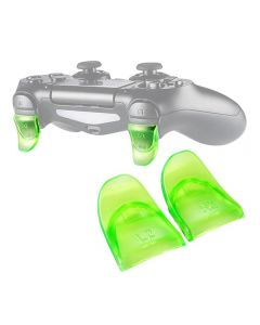L2 R2 Buttons Extension Trigger Extenders Extend Button 1 Pair For PlayStation 4 / PS4 Slim / PS4 Pro DualShock 4 DS4 V1 V2 Controllers - Green