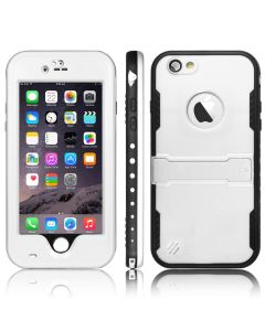 Heavy Duty Waterproof Shockproof Case Cover With Kickstand For iPhone 6 & 6S - White