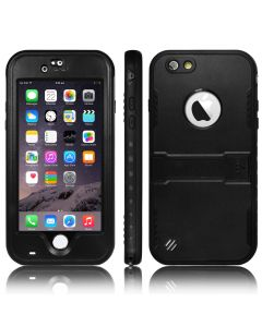 Heavy Duty Waterproof Shockproof Case Cover With Kickstand For iPhone 6 Plus & 6S Plus - Black