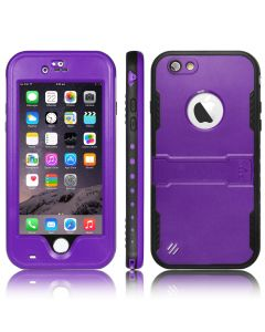 Heavy Duty Waterproof Shockproof Case Cover With Kickstand For iPhone 6 & 6S - Purple