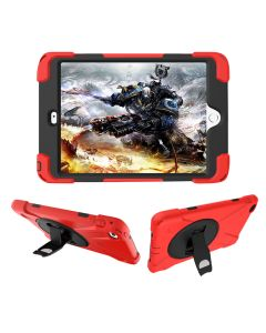 """360 Hybrid Stand Holder Kickstand Heavy Duty Shockproof Full Body Case Cover For iPad Mini 4 / Mini 5 (2019) 7.9""""- Red"""
