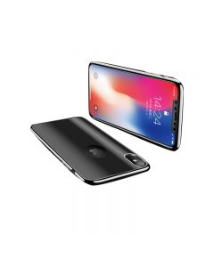 Luxury Soft TPU 360 Full Cover Cases For Apple iPhone X / iPhone XS - Black
