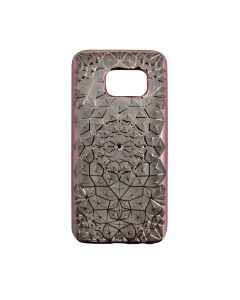 Samsung S7 Luxury 3D Rhinestone Bling Case Soft Silicone Thin Cover Diamond Flower Phone Case - Pink