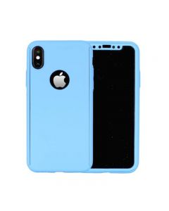 Luxury Soft TPU 360 Full Cover Cases For Apple iPhone X / iPhone XS - Baby Blue