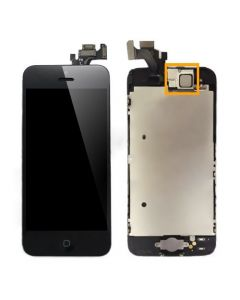 iPhone 5 LCD Assembly With Touch Screen And Other Parts (Digitizer Frame + Home Button + Flex + Earpiece) - Black