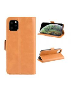 PU Leather Wallet Stand Phone Case Cover Shell For Apple iPhone 11 Pro 5.8'' - khaki