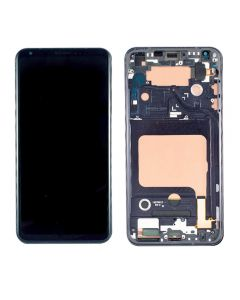 Replacement LCD Display Touch Screen Digitizer Assembly With Frame Compatible With LG V35 ThinQ - Black