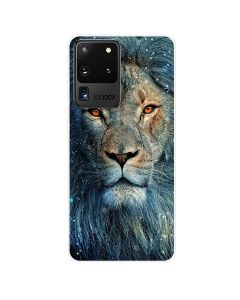 TPU Silicone Soft High Quality 3D Print Back Cover Case For Samsung Galaxy S20 Ultra 5G - Lion Design