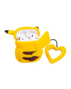 Yellow Animal TPU Silicone Design Protective Cover Charging Case Cover Accessory For AirPods 1 / AirPods 2 Case