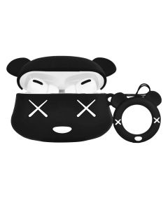 Mouse Cartoon TPU Silicone Design Protective Cover Charging Case Cover Accessory For AirPods Pro Case - Black
