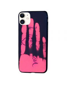 Thermal Sensor Color Changing Heat Sensitive Magical TPU Back Cover Case For Apple iPhone 11 - Black