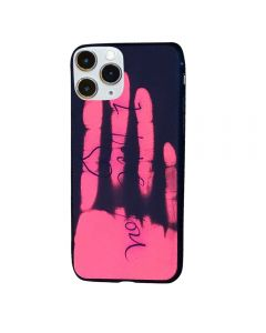 Thermal Sensor Color Changing Heat Sensitive Magical TPU Back Cover Case For Apple iPhone 11 Pro - Black