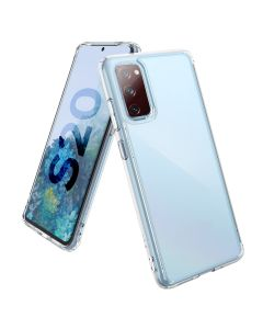 TPU Hard PC Hybrid Shockproof Protective Transparent Back Cover Case For Samsung Galaxy S20 FE - Clear