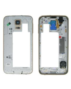 Middle Frame Cover for Samsung Galaxy S5 G900 Replacement - Gold