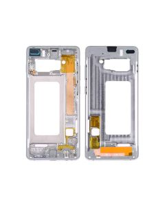Replacement Middle Frame Bezel Plate Compatible With Samsung Galaxy S10 Plus SM-G975W - White