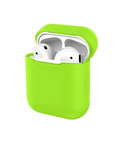 Luxury Silicone Protective Shockproof Headphone Case Cover For AirPods 1 / AirPods 2 Charging Case - Mint Green