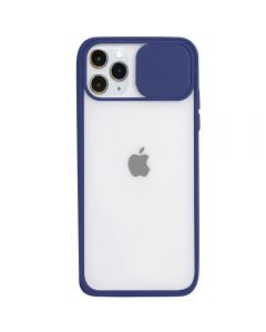 Candy Color Light Transparent Camera Protection Soft Silicone Back Cover Phone Case For iPhone 11 Pro Max - Navy Blue