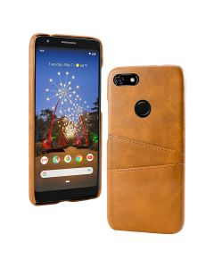 PU Leather Wallet Flip Stand Shockproof Full Body Smart Phone Case Cover With Card Holder For Google Pixel 3a - Orange