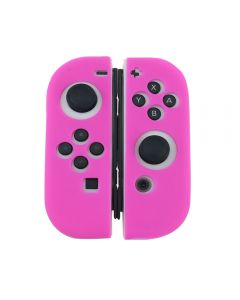 Joycon Anti Slip Soft Case Silicone Rubber Grip Skin Case Cover For Nintendo Switch Joy Con Controller (Controller Not Included) - Pink