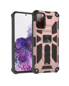Heavy Duty Shockproof Hybrid Armor Magnetic Kickstand Full Body Hard Case Cover For Samsung Galaxy S20 FE - Pink