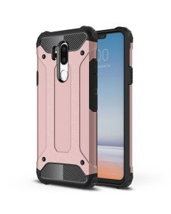 LG G7 King Kong Iron Armor 2 in 1 Anti Fall Cover Case - Pink