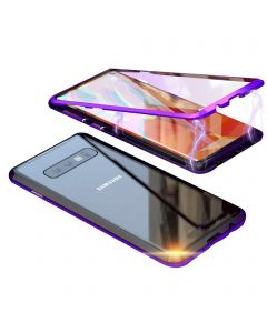 Stylish Luxury Magnetic Metal Case Compatible With Samsung Galaxy S10E - Purple