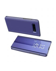 Smart Sleep Mirror Window View Bracket Magnetic Flip Protective Case Compatible With Samsung Galaxy S10 - Purple