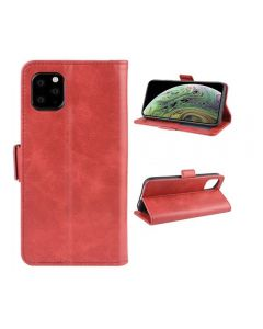 PU Leather Wallet Stand Phone Case Cover Shell For Apple iPhone 11 Pro 5.8'' - Red