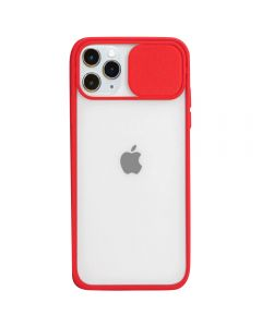Candy Color Light Transparent Camera Protection Soft Silicone Back Cover Phone Case For iPhone 11 Pro Max - Red