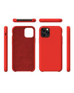 Liquid Gel Silicone Rubber Protective Case Cover For Apple iPhone 11 Pro Max 6.5'' - Red