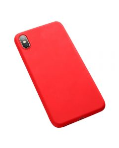 Silica Gel Solid Color Anti knock Plain Mobile Phone Cover Case For Apple iPhone X / iPhone XS - Red