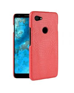 Crocodile Skin Pattern PU leather Protective Back TPU Phone Case Cover For Google Pixel 3a - Red