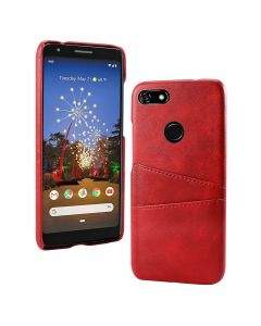 PU Leather Wallet Flip Stand Shockproof Full Body Smart Phone Case Cover With Card Holder For Google Pixel 3a - Red