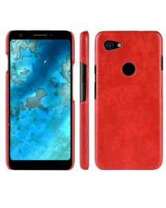 Stylish TPU Hard Back Cover Litchi PU Leather Phone Case Cover For Google Pixel 3a XL - Red