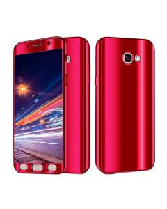 Luxurious Cool Ultra Slim Mirror Case 360 Full Body Protection Phone Case Cover For Samsung Galaxy A5 (2017) A520 - Red