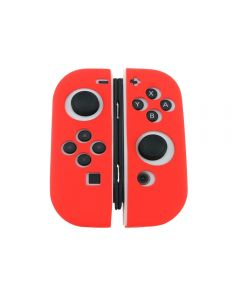 Joycon Anti Slip Soft Case Silicone Rubber Grip Skin Case Cover For Nintendo Switch Joy Con Controller (Controller Not Included) - Red