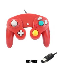 Game Shock Joypad Vibration Pad Two Interface Optional Gamepad Controller Gamecube Controller For Nintendo Wii GC Port - Red