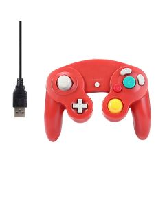 Game Shock Joypad Vibration Pad Two Interface Optional Gamepad Controller Gamecube Controller For Nintendo Wii / Mac / PC USB Port - Red