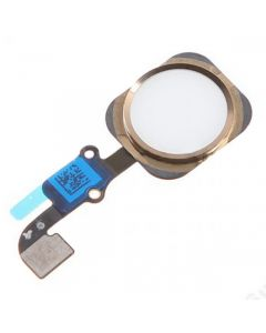 Replacement Part for Apple iPhone 6S Plus Home Button Assembly with Flex Cable Ribbon - Gold