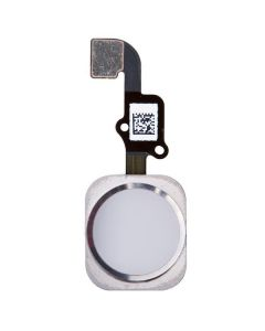 Replacement Part for Apple iPhone 6S Plus Home Button Assembly with Flex Cable Ribbon - Silver