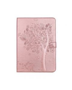 """Luxury Cartoon Cat and Tree PU Leather Flip Cover Case For Apple iPad 9.7"""" 5(2017)/6(2018)/iPad Air 2- Rose Gold"""