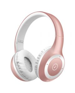 T8 Stereo Bluetooth Headphones Wireless Folding Headset with Microphone - Rose Gold