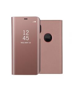PU Leather Flip Smart Mirror Full Cover Case Phone For Apple iPhone X / iPhone XS - Rose Gold