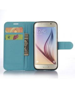 Samsung Galaxy S7 Wallet Style Flip Case With Stand - Baby Blue