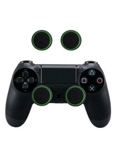 2 PC's Set Silicone Protective Thumb Stick Grip Caps Thumbgrip's For PS4 PS3 Xbox 360 Xbox One Game Controllers - Green