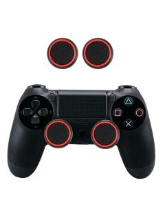 2 PC's Set Silicone Protective Thumb Stick Grip Caps Thumbgrip's For PS4 PS3 Xbox 360 Xbox One Game Controllers - Red