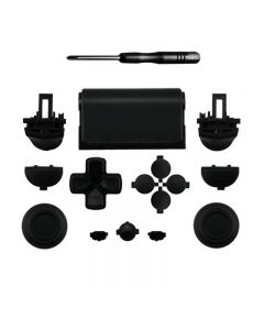 Set Button R2L2 Dpad Repair Kit for PS4 Pro Slim Controller Glossy JDM-040 - Black
