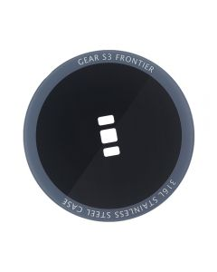 Replacement Back Glass Cover Compatible Samsung Gear S3 Frontier - Black